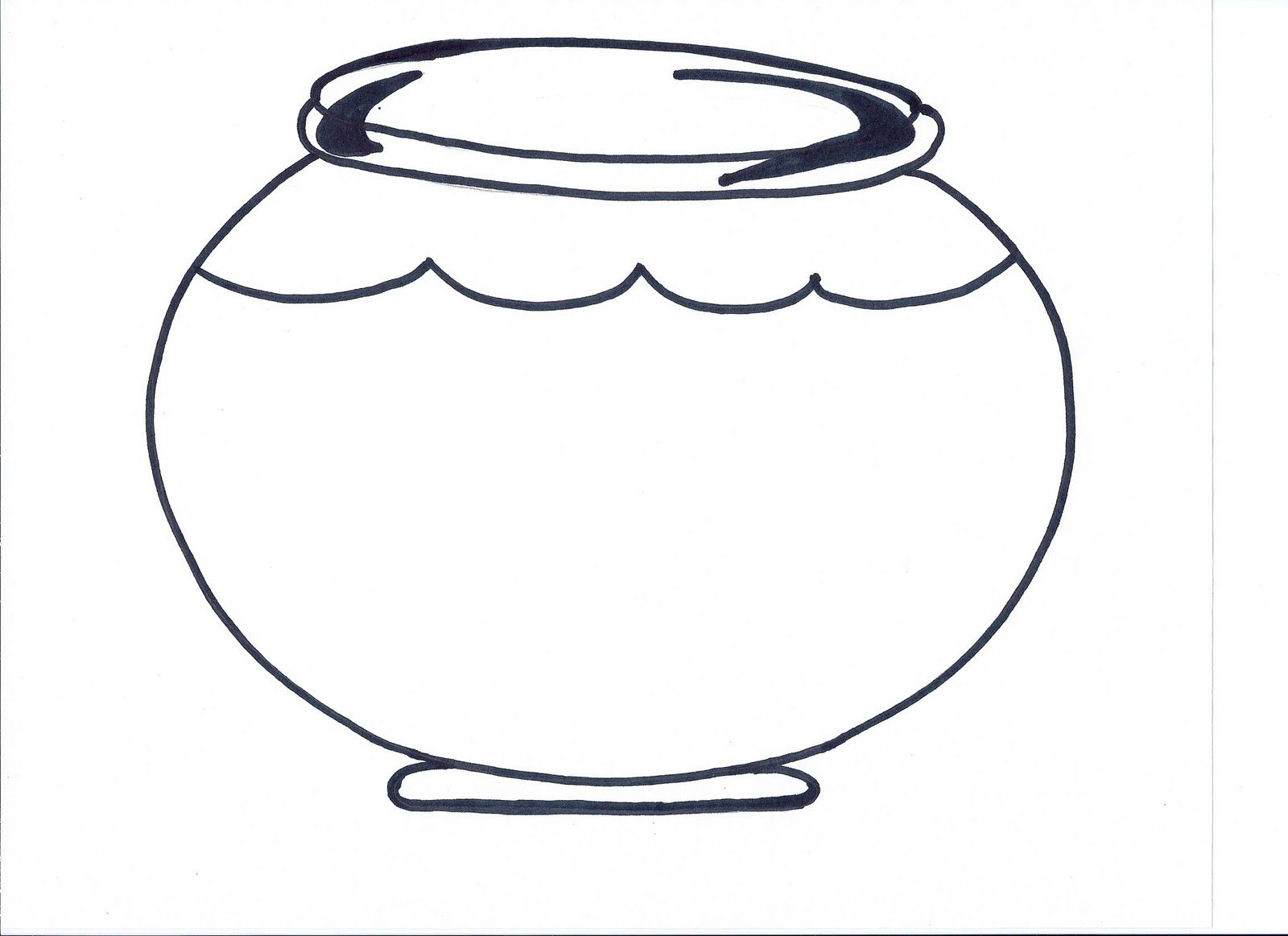 Fishbowl Printable Preschool Pinterest