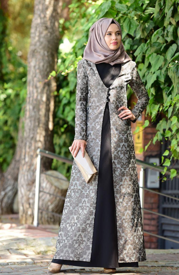 Jakarli Kaftan Abiye Takim 7013 02 Vizon Giyim Elbise Elbise Modelleri