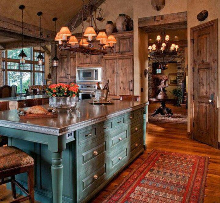 Southwest Colors And Accents Love The Island And Wood Door And