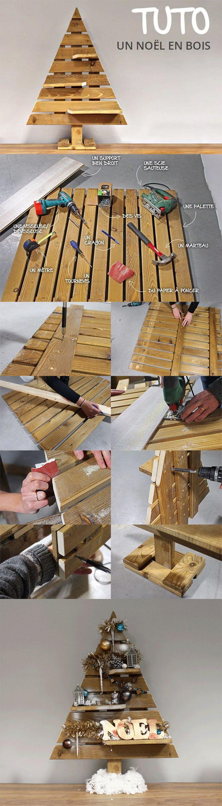 tutoriel comment faire un sapin en bois diy sapin de no l sapin en palette et sapin. Black Bedroom Furniture Sets. Home Design Ideas