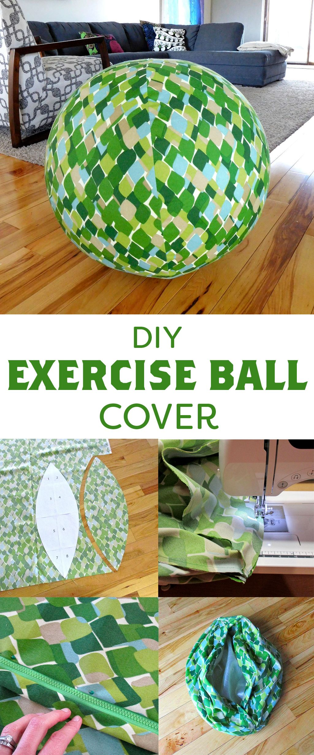 DIY Exercise Ball Cover Ball chair, Fabric balls, Diy chair