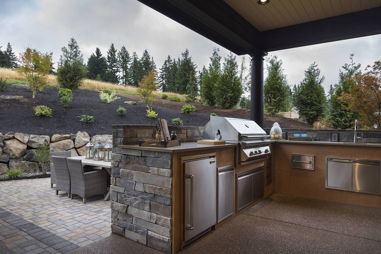 Mascord plan the chatham complete outdoor kitchen outdoor