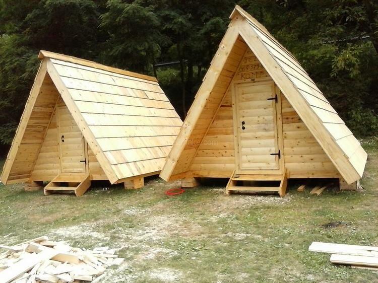 Marvelous Pallet Wooden Hut Diy Projects | I Love2Make ...
