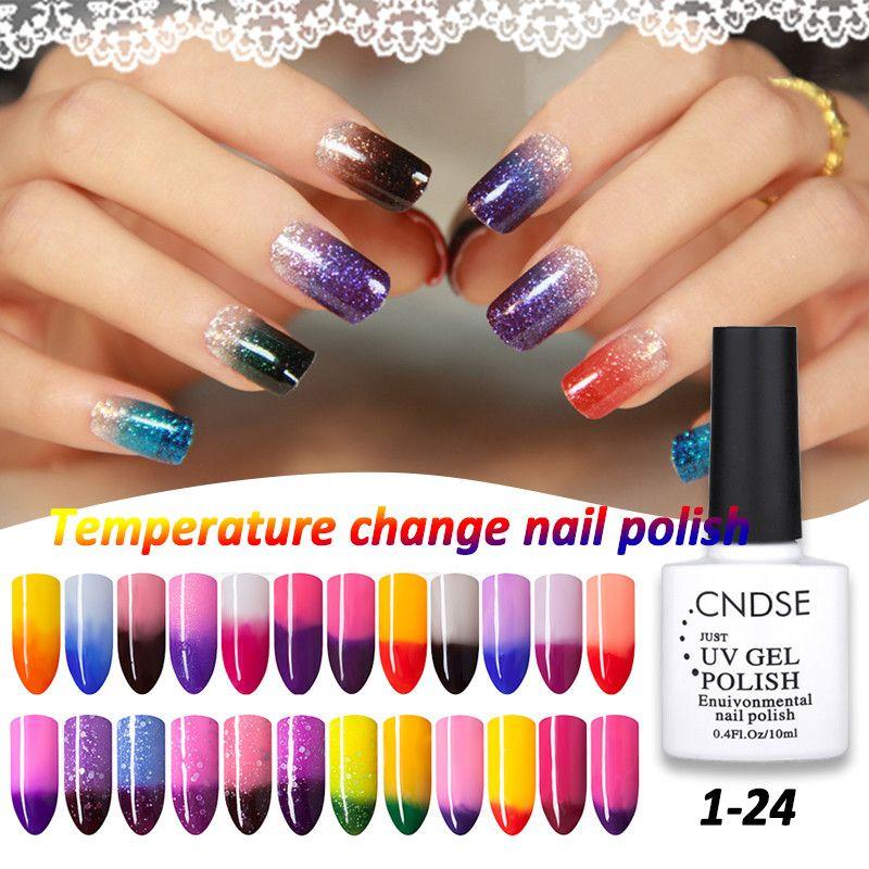 72 Colores 10 ML Cambio de Temperatura de Uñas de Color UV Gel ...