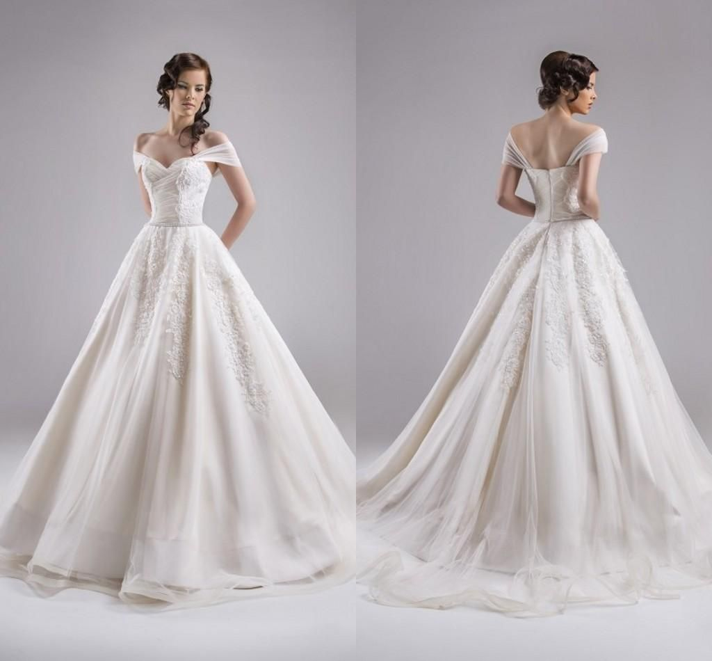 Ball Gown 2015 Wedding Dresses Formal Capped Sleeves Floor Length ...