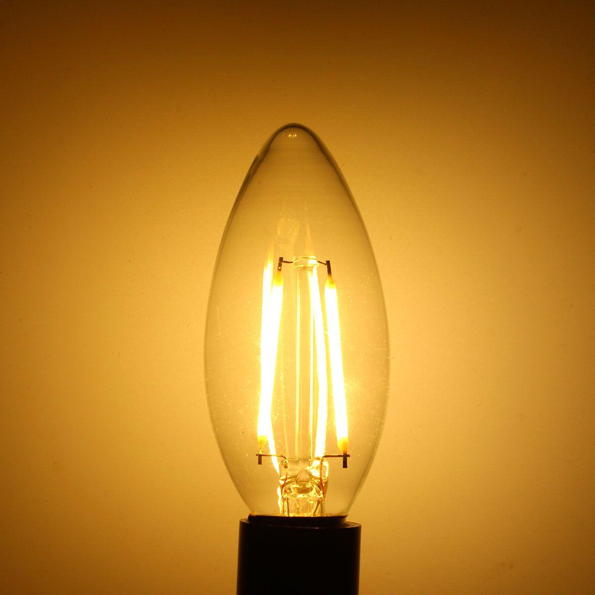 Dimmable E14 Led 2w White Warm White Cob Led Filament Retro Edison Led Bulbs Ac 110v Led Bulb Led Lights Led Candle Lights