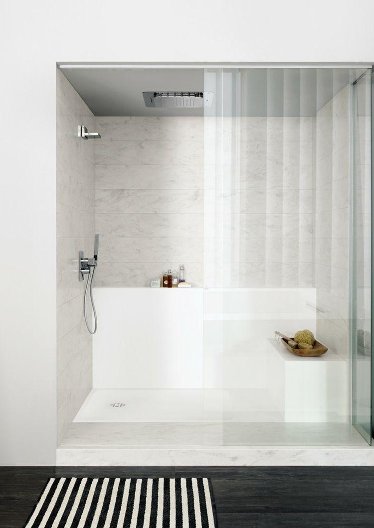 Dusche Corian Duschwanne Ablagefach Spritzschutz Badezimmer Bathroom Design Corian Shower Walls Corian Bathroom Dupont Corian