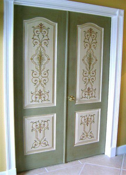 Декор дверной двери своими руками 565