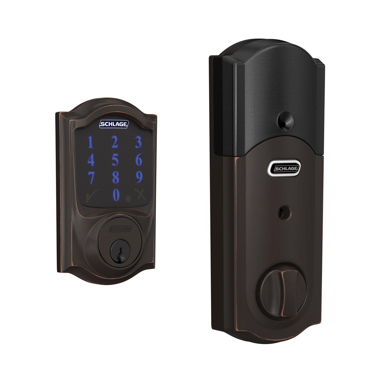 Schlage Connect Smart Deadbolt Z Wave Plus Enabled For Works