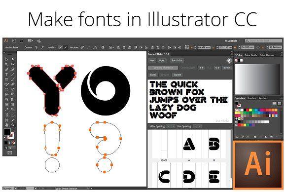 Fontself Make Fonts In Illustrator Create Font Lettering Photoshop Resources
