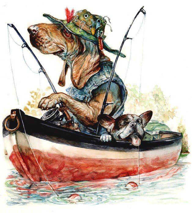 замечательной рыбалки картинки как
