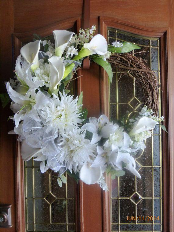 Elegant Calla Lilly Wreath White Wedding Wreath