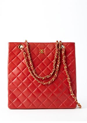 love this red Chanel bag!