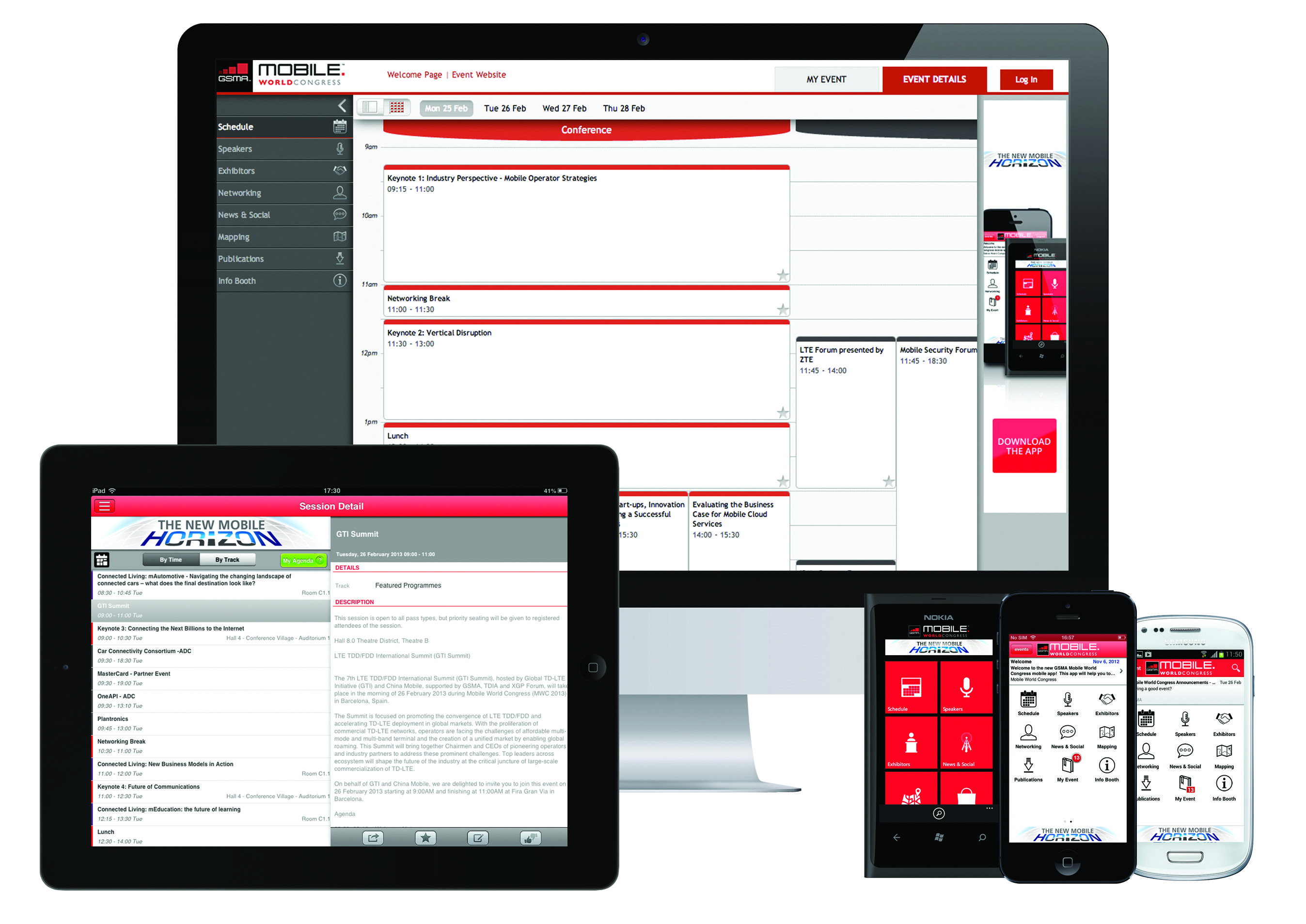 Agenda App Sync our mobile event apps are multi-screen and multi-platform