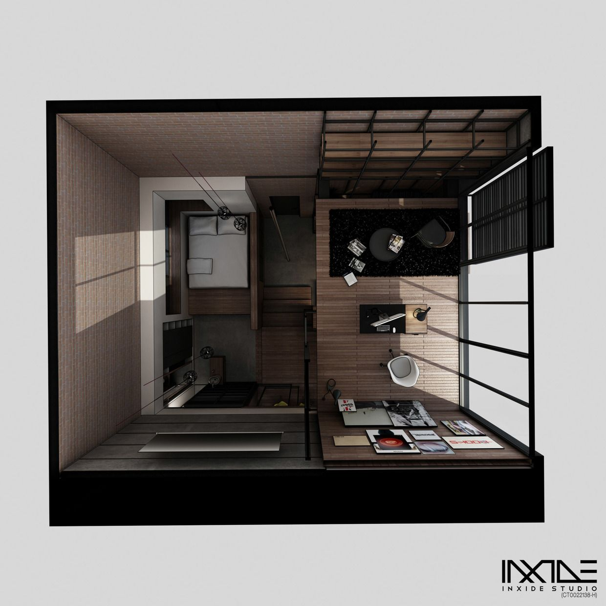 designer anway aljugrey from inxide studio has designed a modern compact house that can meet - Compact House Interior