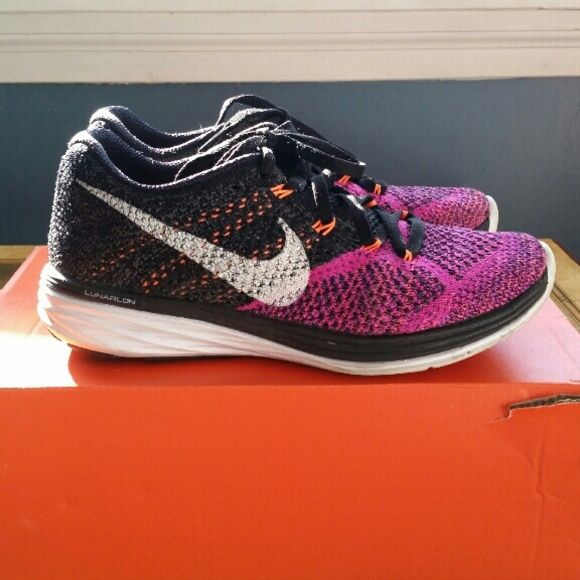 Nike Flyknit Lunar 3 : Size Woman's 5 Too small Original box Price is firm  No trades* Size is equivalent to a Due to narrow toe (if you have a wide  foot), ...
