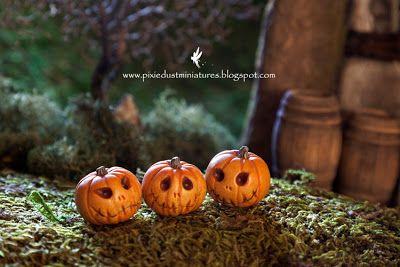 Pixie Dust Miniatures: Pumpkins and Jacks for Halloween!