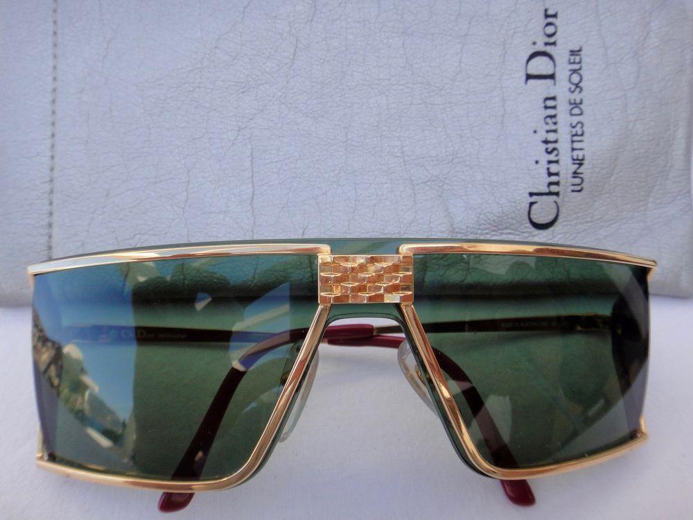 9aa49fa49c Vintage christian dior monsieur gold optyl 2392 emerald lenses 80's austria