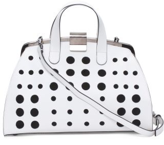 Made In Italy Leather Cut Out Satchel