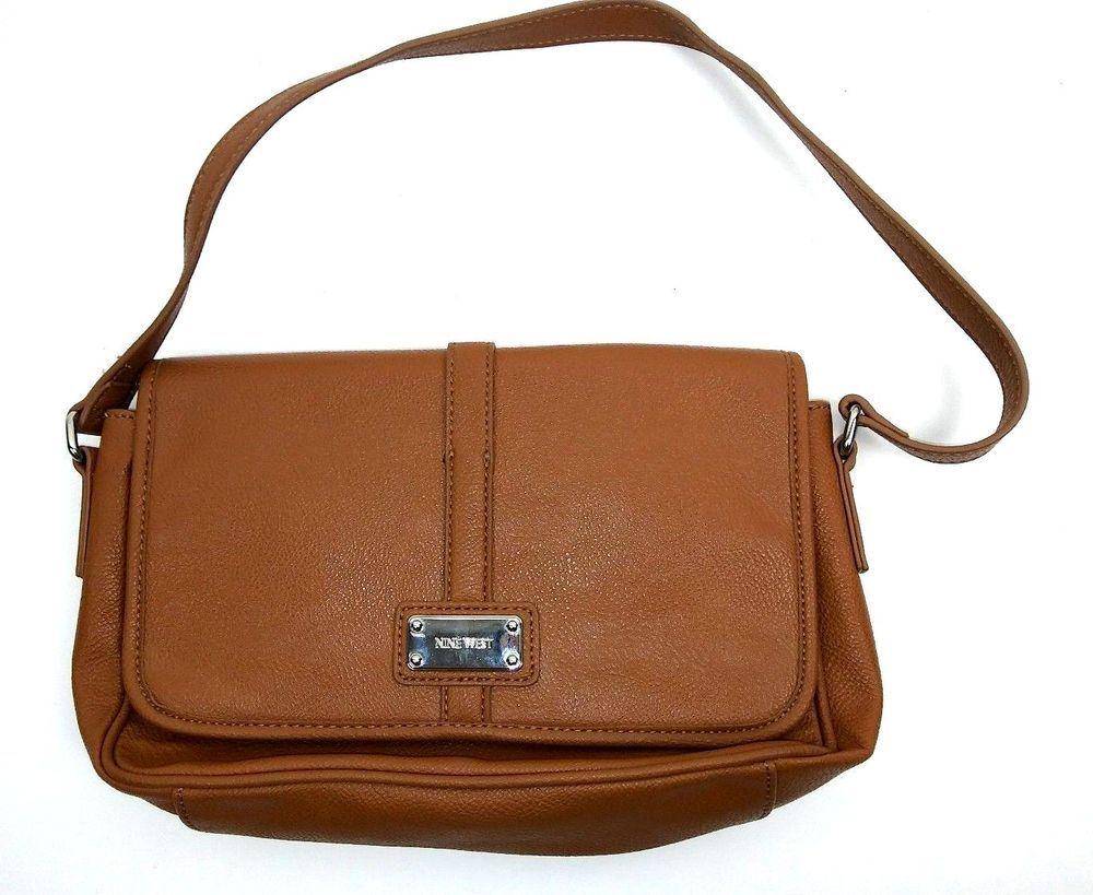 Nine West Small Purse Shoulder Bag Light Brown Faux Leather Handbag Ninewest Shoulderbag