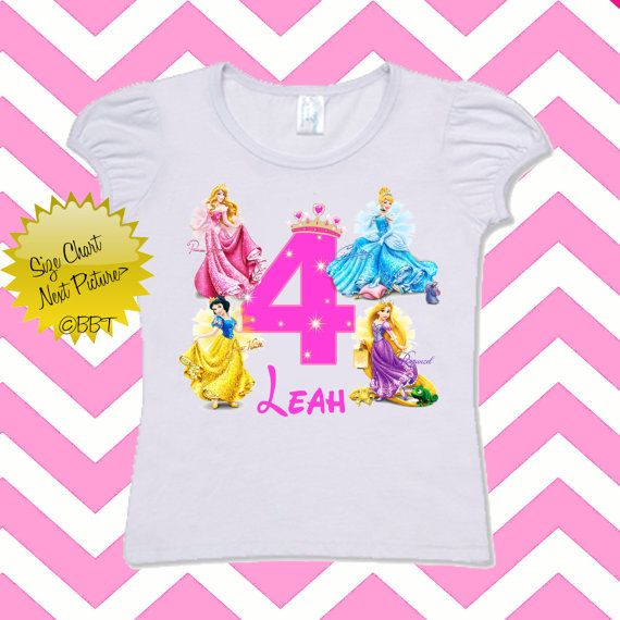 Disney Princess Cinderella Personalised Girls T-Shirt Age 3 Ideal Gift//Present