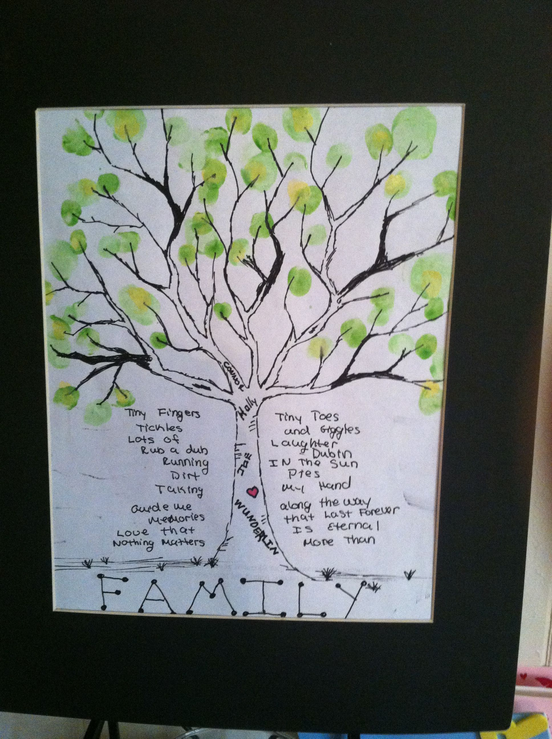 DIY finger print tree I found a template for the tree trunk and