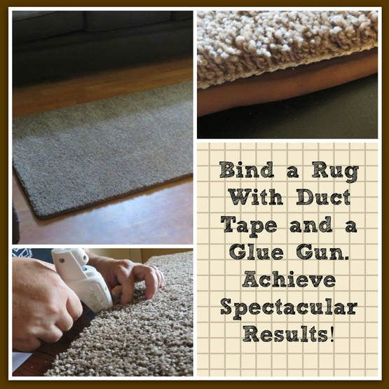 How To Bind A Piece Of Carpet Into A Rug, Use Duct Tape To