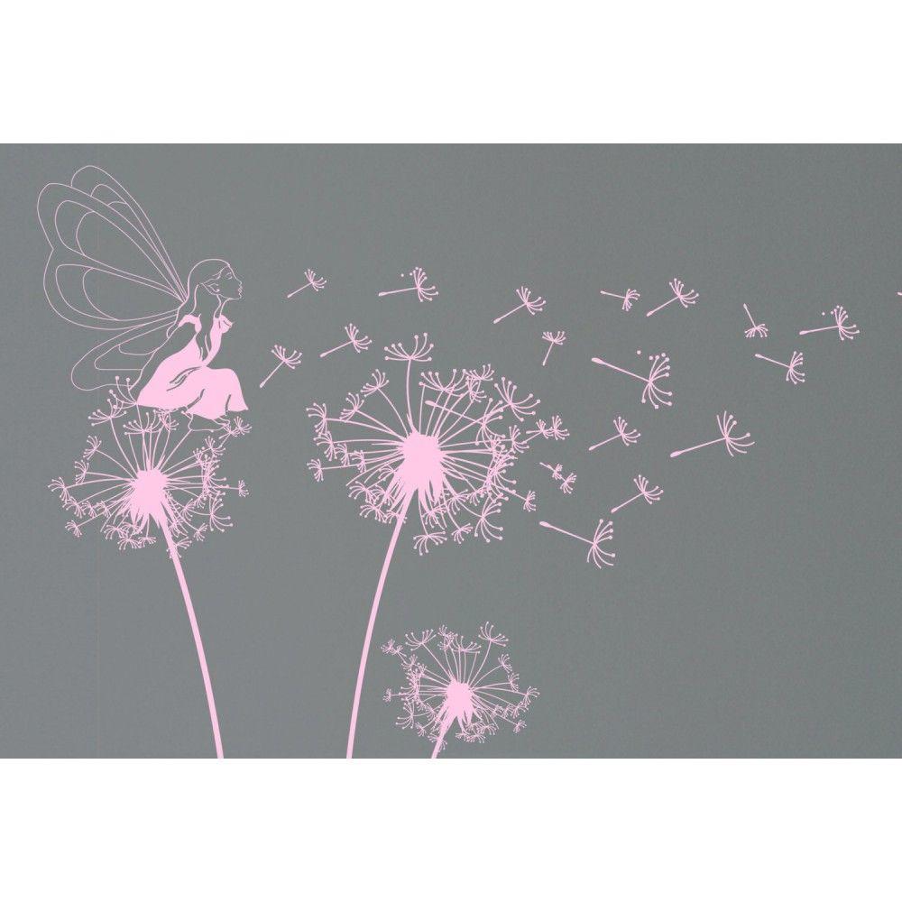 Fairy baby girl dandelion decals baby nursery wall decals fairy baby girl dandelion decals amipublicfo Images
