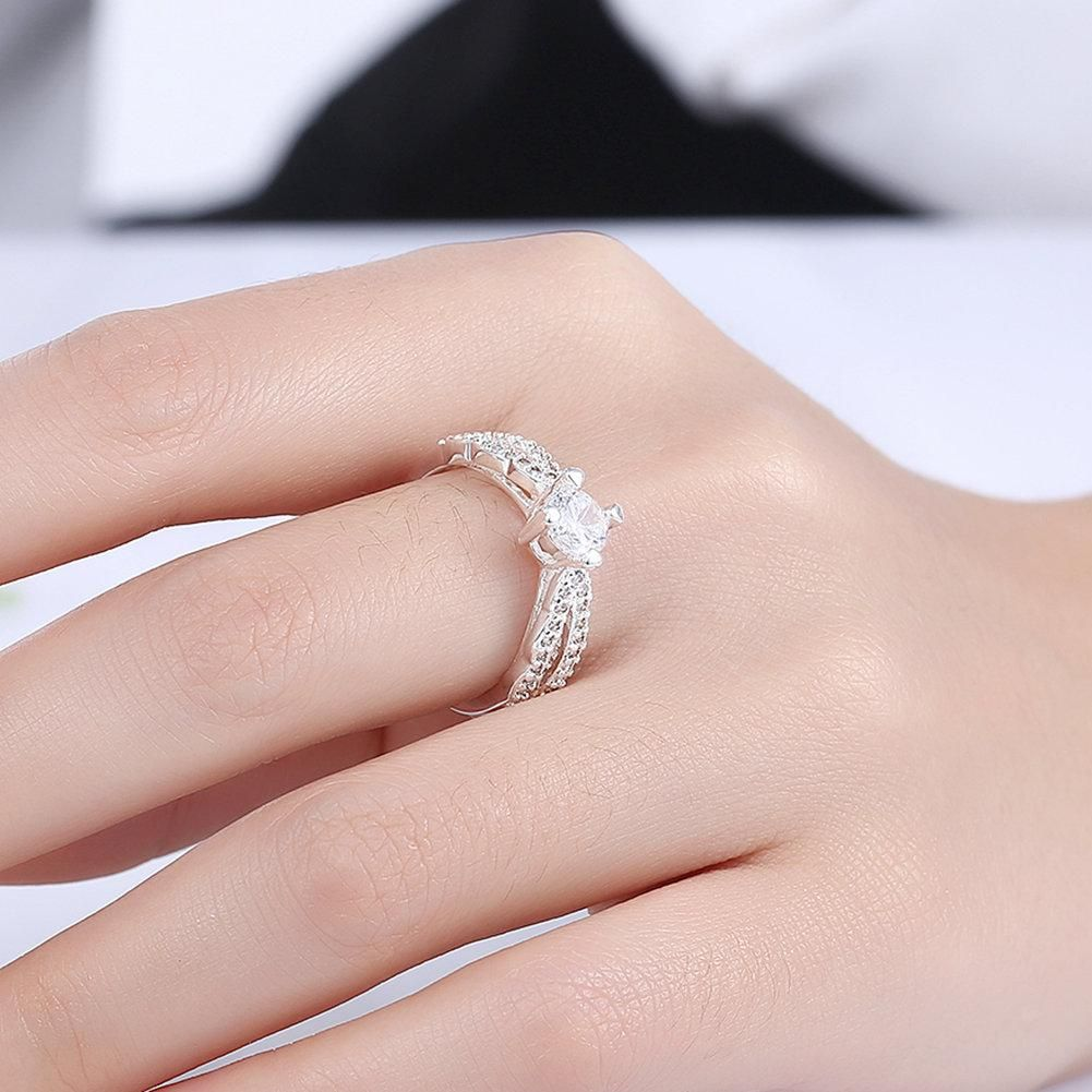 YUEYIN Luxury Ring Oval Zircon Wedding Ring for Women Gift ...