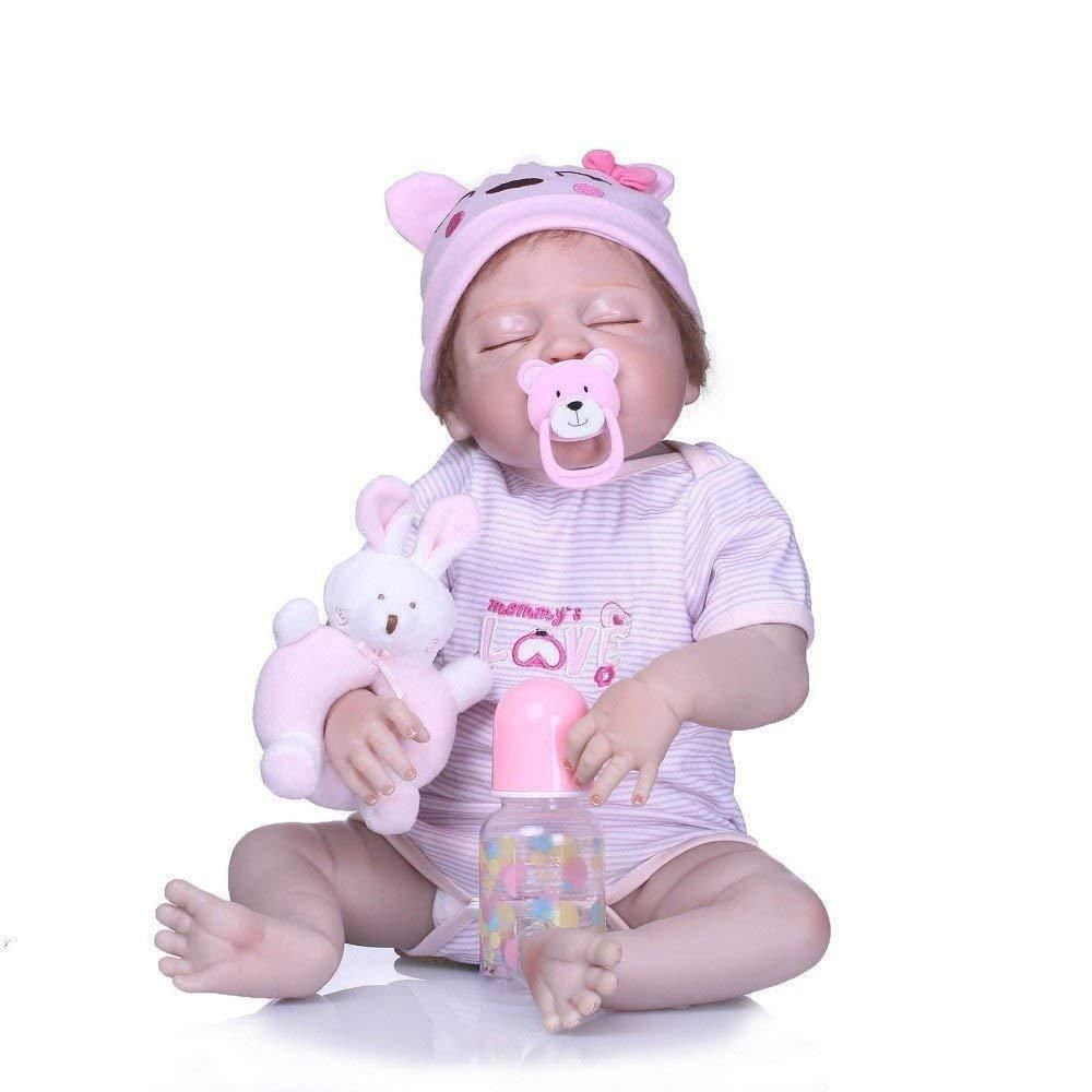 Full Body Silicone Baby Dolls that Look Real 22 Inch Baby Doll for Babies American Girl Baby Doll  real life baby dolls look and feel real silicone baby dolls for childre...
