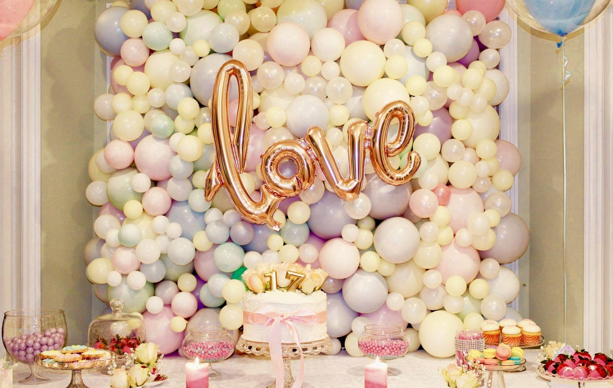 Organic balloon wall by Airaffaire | Christening balloons ...