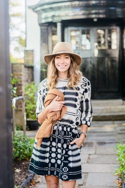 Courtney Adamo in the Ace & Jig Natural Coverlet Lake Dress | A Cup Of Jo: Four fall outfits