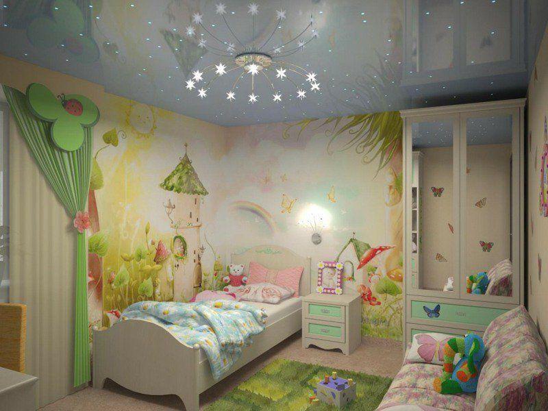 Fresque murale dans la chambre d\u0027enfant \u2013 35 dessins joviaux
