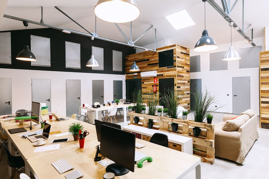 Modern trendy coworking office huddle community spaces Coworking space design ideas