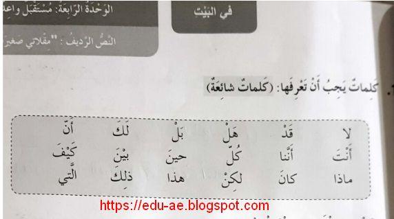 حل درس مقلاتى صغيرة كتاب النشاط لغة عربية الصف الرابع الفصل الثانى 2020 Math Books Math Equations