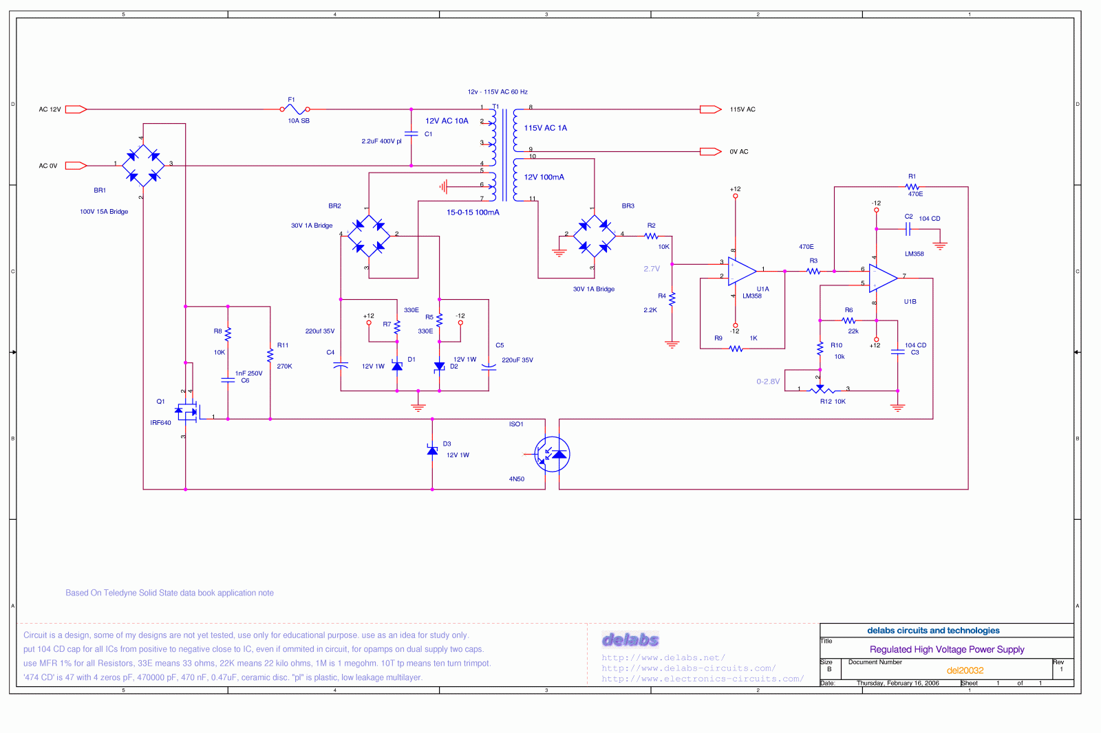 high voltage circuit diagram sql server memory architecture regulated power supply electronics