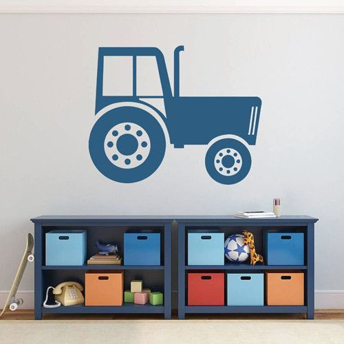 ik1524 Wall Decal Sticker Tractor Working transport rack machine bedroom