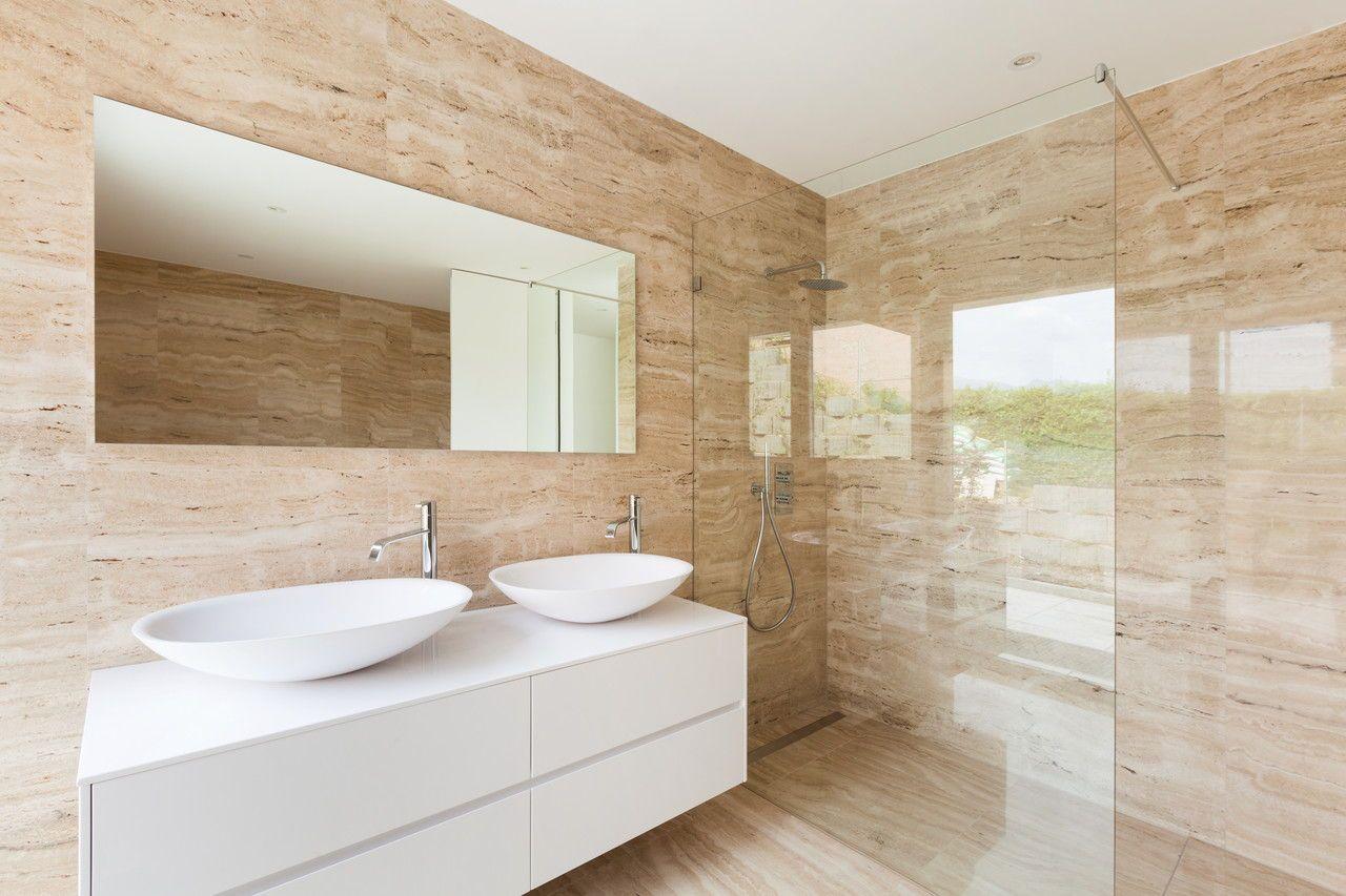 Walk In Dusche Aus Glas Moderne Kleine Bader Badezimmereinrichtung Modernes Badezimmer
