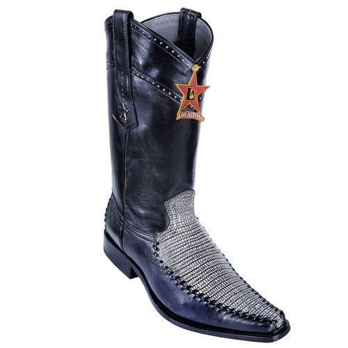 8737d8a0b32 Los Altos -Mens Spanish Stitching Versace Toe Genuine Lizard Teju ...