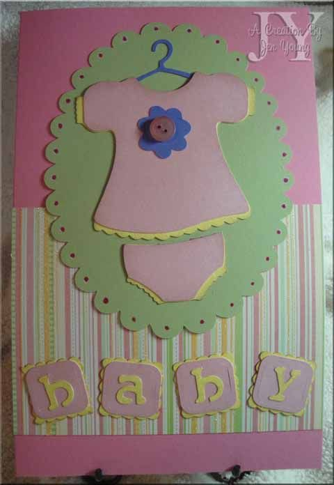 Baby Girl Cricut Cards