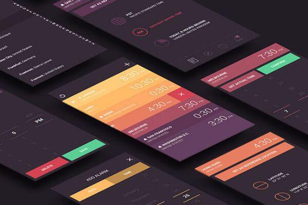 App review Globo World Clock App design, Interface