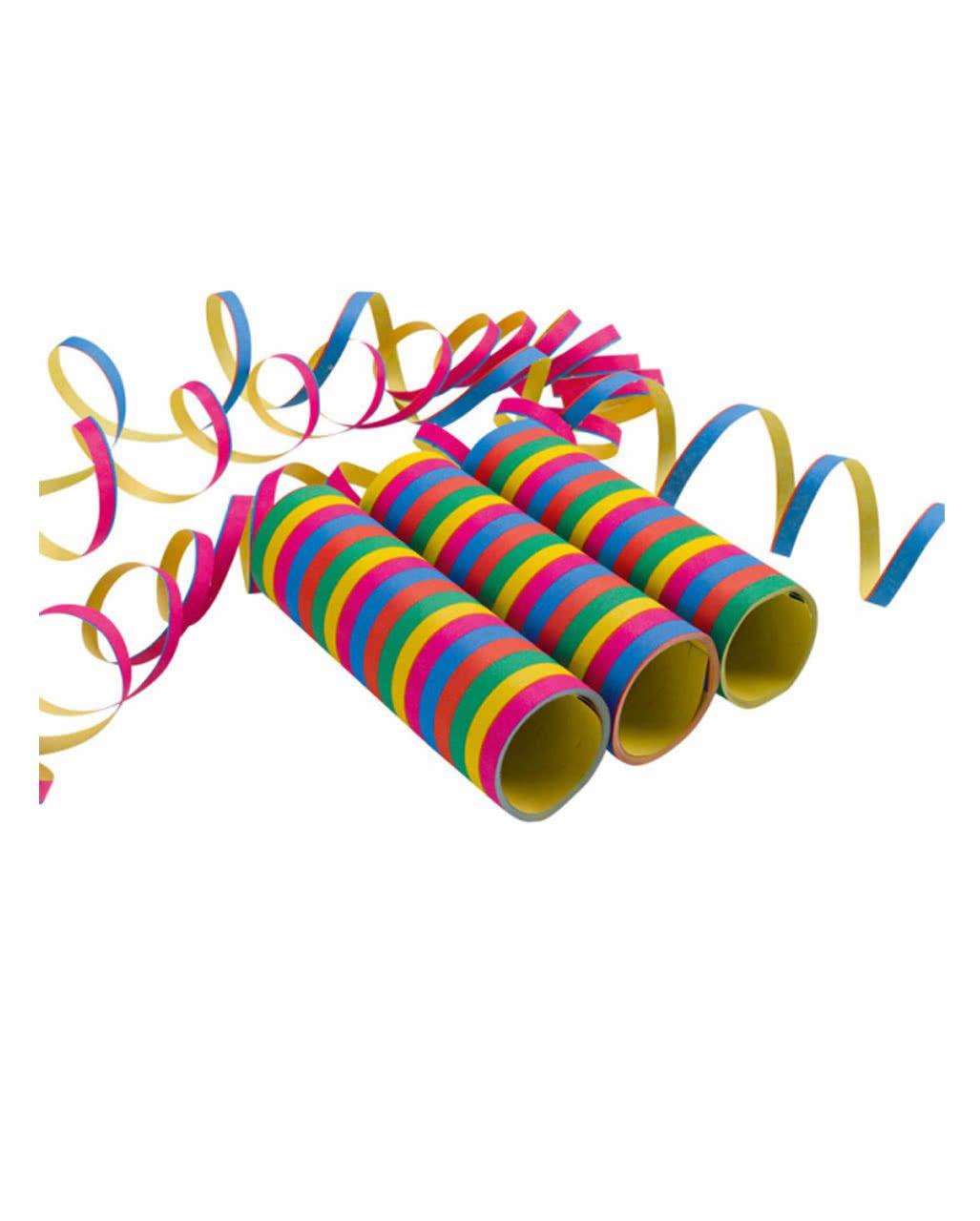 Luftschlangen Metallic 3er Pack