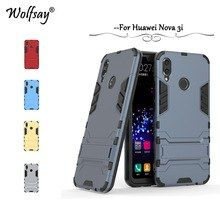 new arrival 5546a ec386 Huawei P Smart Plus Case Nova 3i Cover Luxury Armor Silicone Hard ...