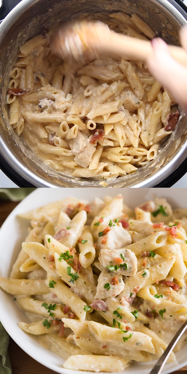 Instant Pot Ranch Chicken Pasta