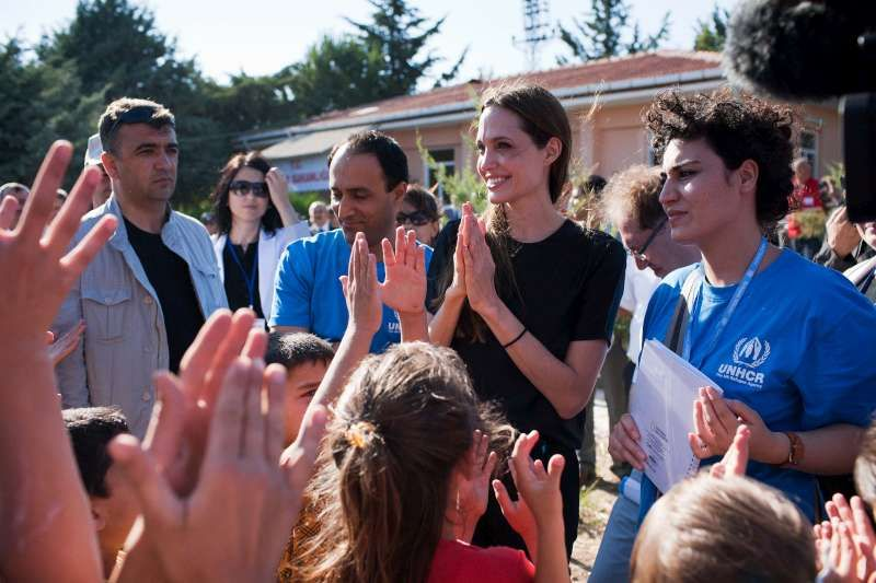 UNHCR Gooodwill Ambassador Angelina Jolie at a camp for Syrian refugees in the southern Turkish town of Altinozu. © UNHCR/J.Tanner