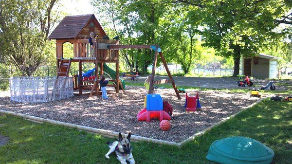 Kids Outdoor Play Area   The Outdoor Play Area For The Kids 1 Acre Fenced In