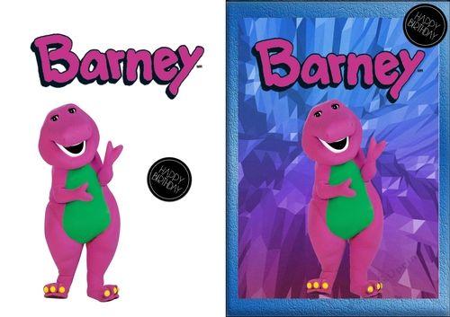 Barney the dinosaur birthday card by lucas smith its your favourite barney the dinosaur birthday card by lucas smith its your favourite purple dinosaur its bookmarktalkfo Gallery