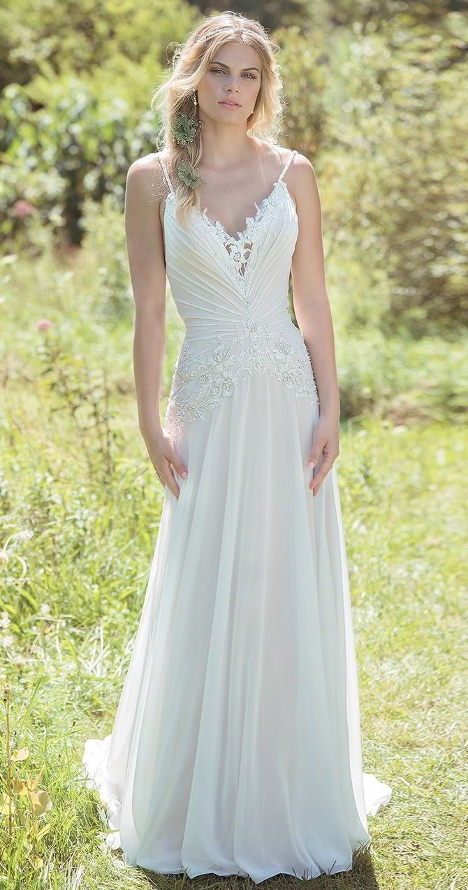 Wedding dresses v neck  Aline Wedding Dresses  Effortlessly sexy This slim bodyhugging A