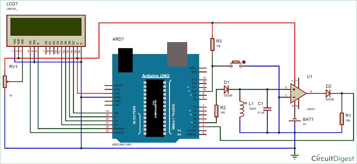 Circuit Diagram for LC Meter Using Arduino | Electronic Circuit ...