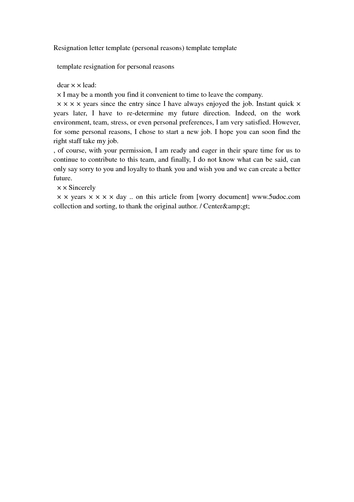 Resign Letter For PersonalWriting A Letter Of Resignation Email ...